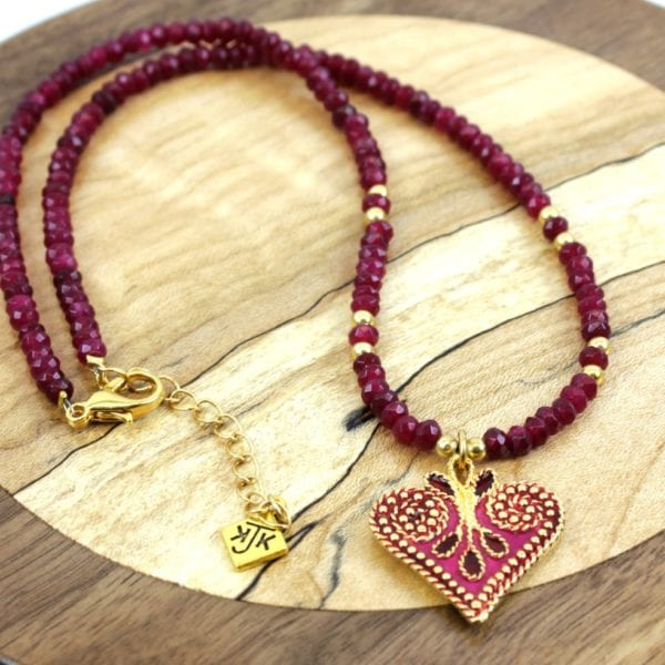 KJK Ruby Jade Necklace