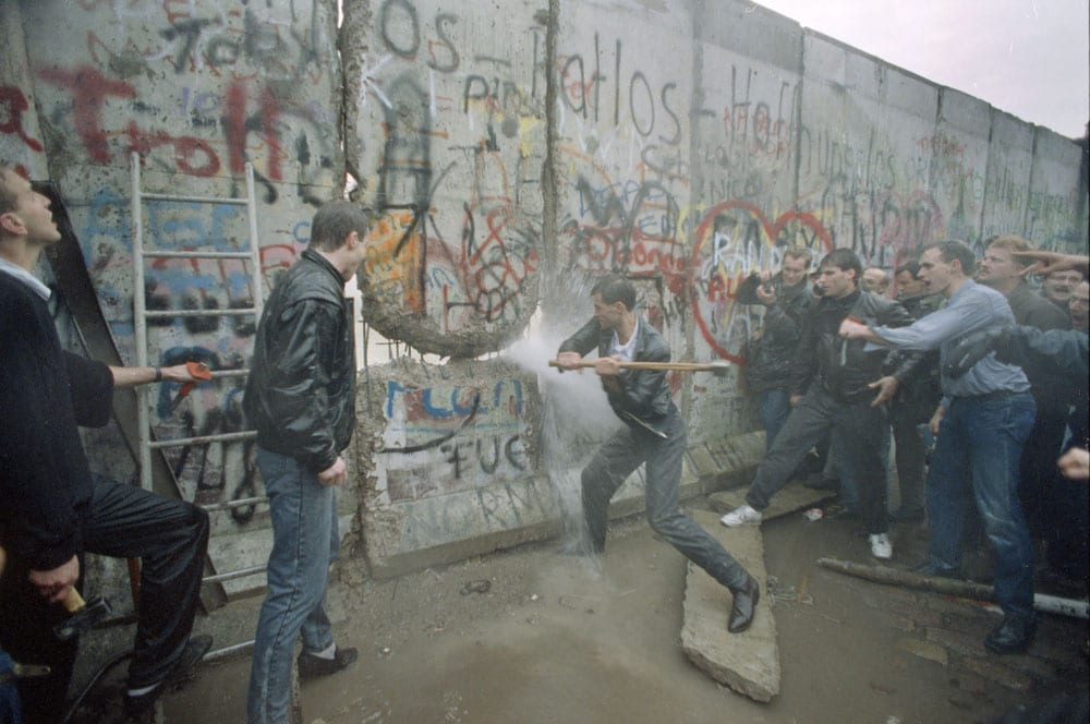 Breaking down the Berlin Wall