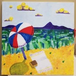 painting of beach