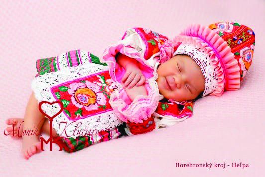 Baby in Slovak folk kroje