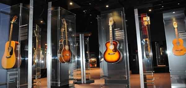 Display of guitars