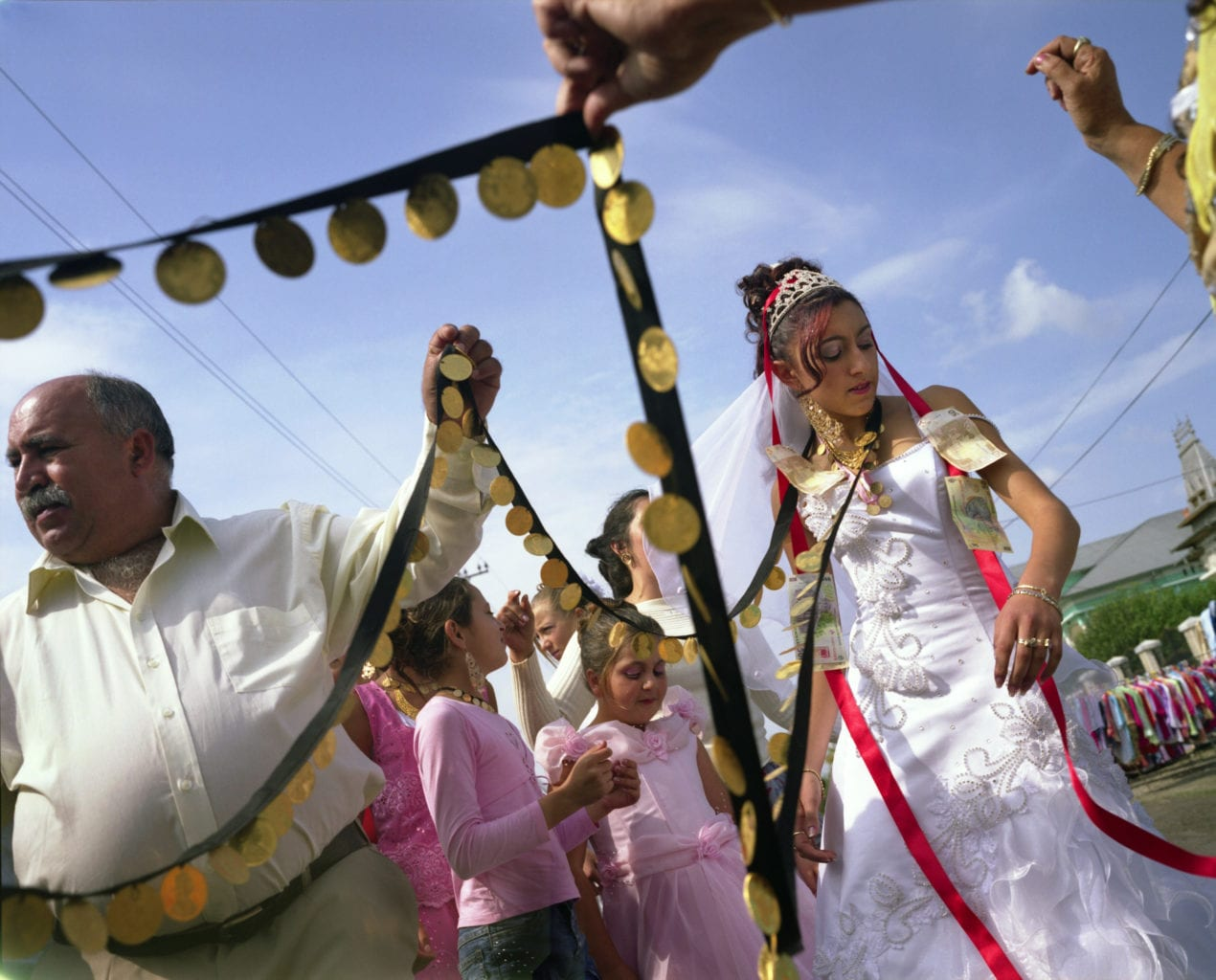 Garoafa's wedding day, Sintesti Roma camp, Romania, 2006.