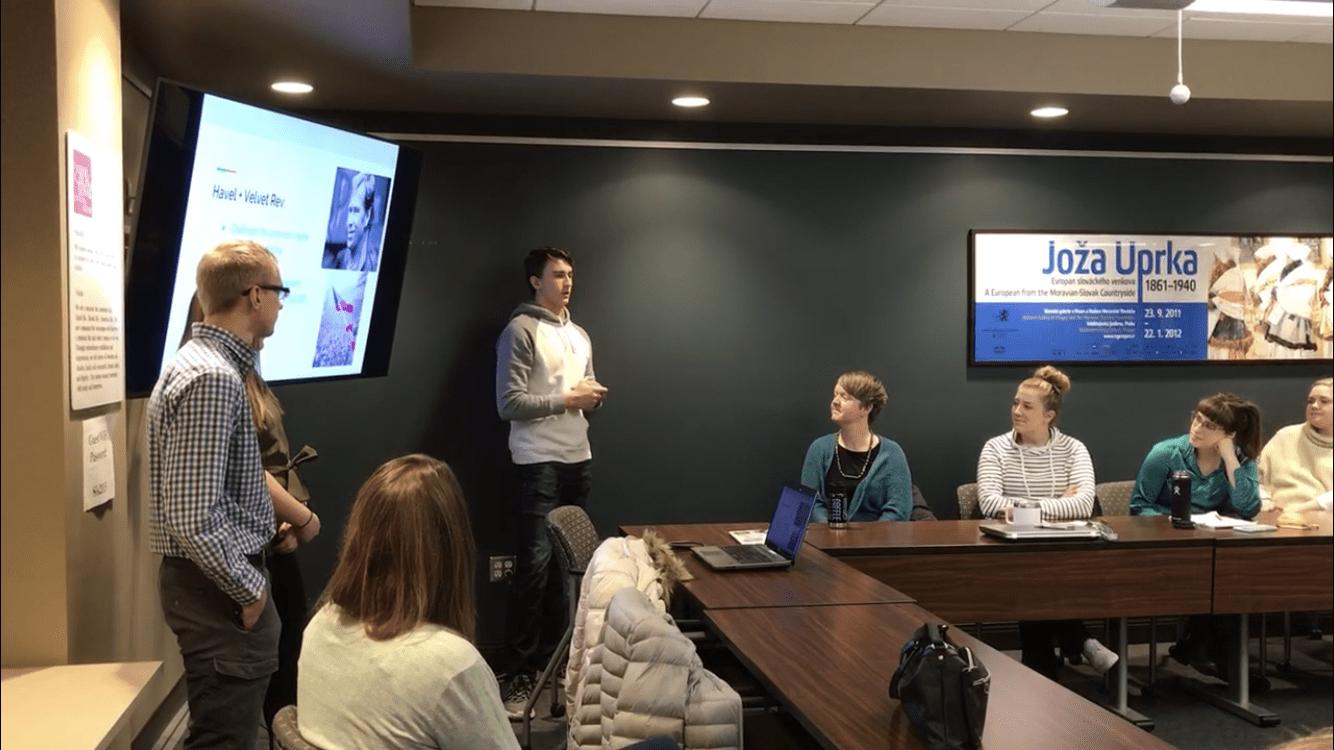 Iowa Big students giving a presentation