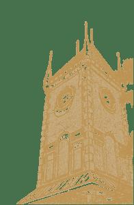 Gold NCSML clock tower