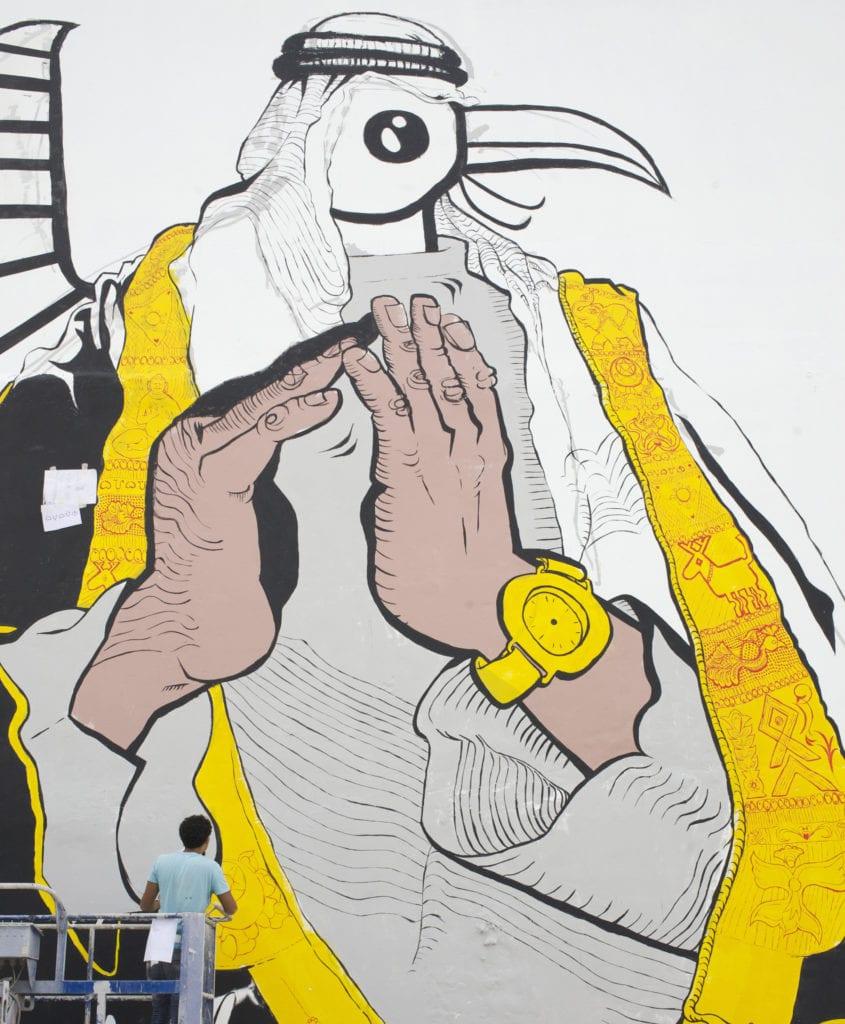 Ganzeer wall mural