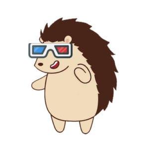 Hubert in 3D glasses