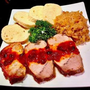 Pork-loin-with-gravy-sauerkraut-dumplings