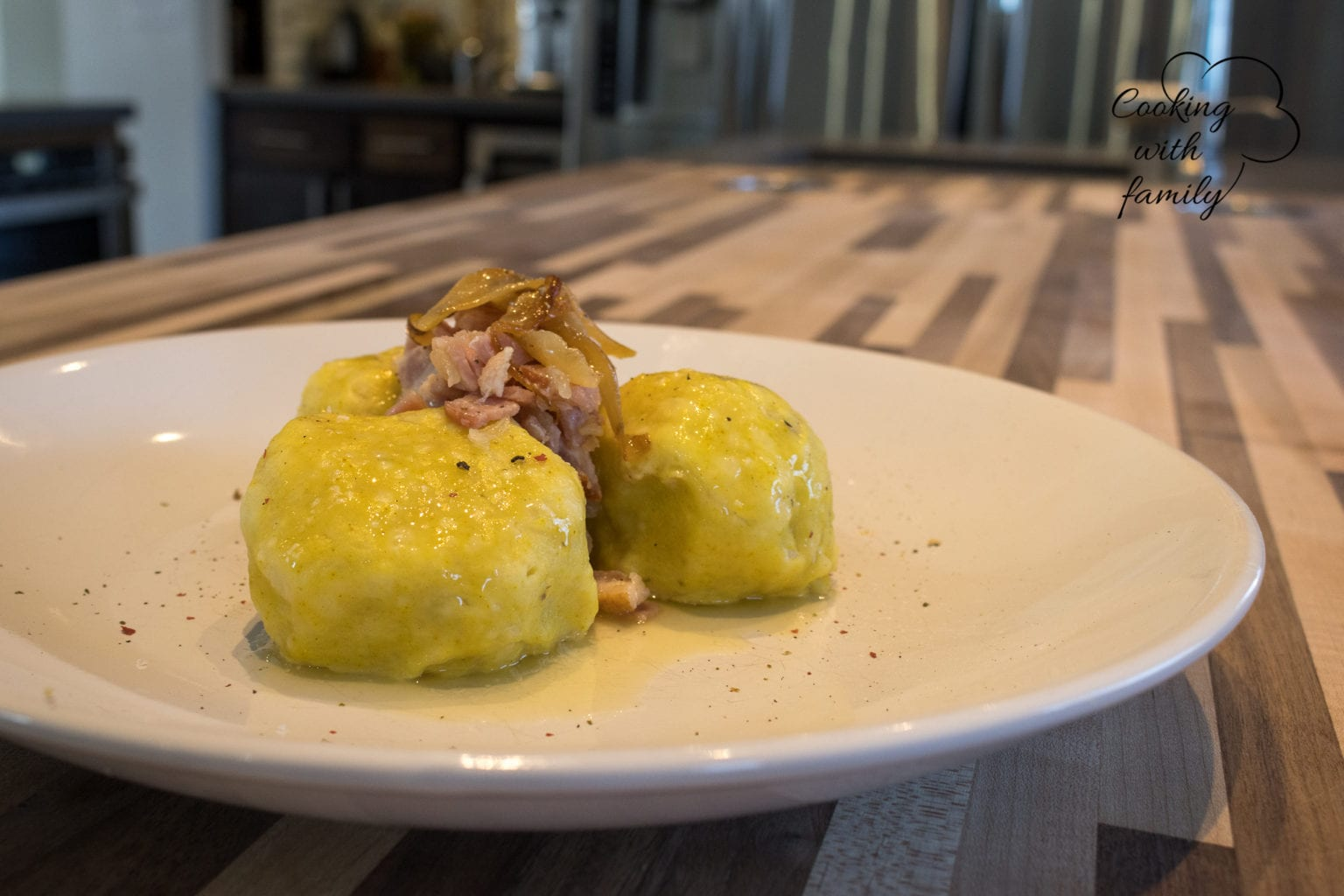 Potato Dumplings with Smoked Meat