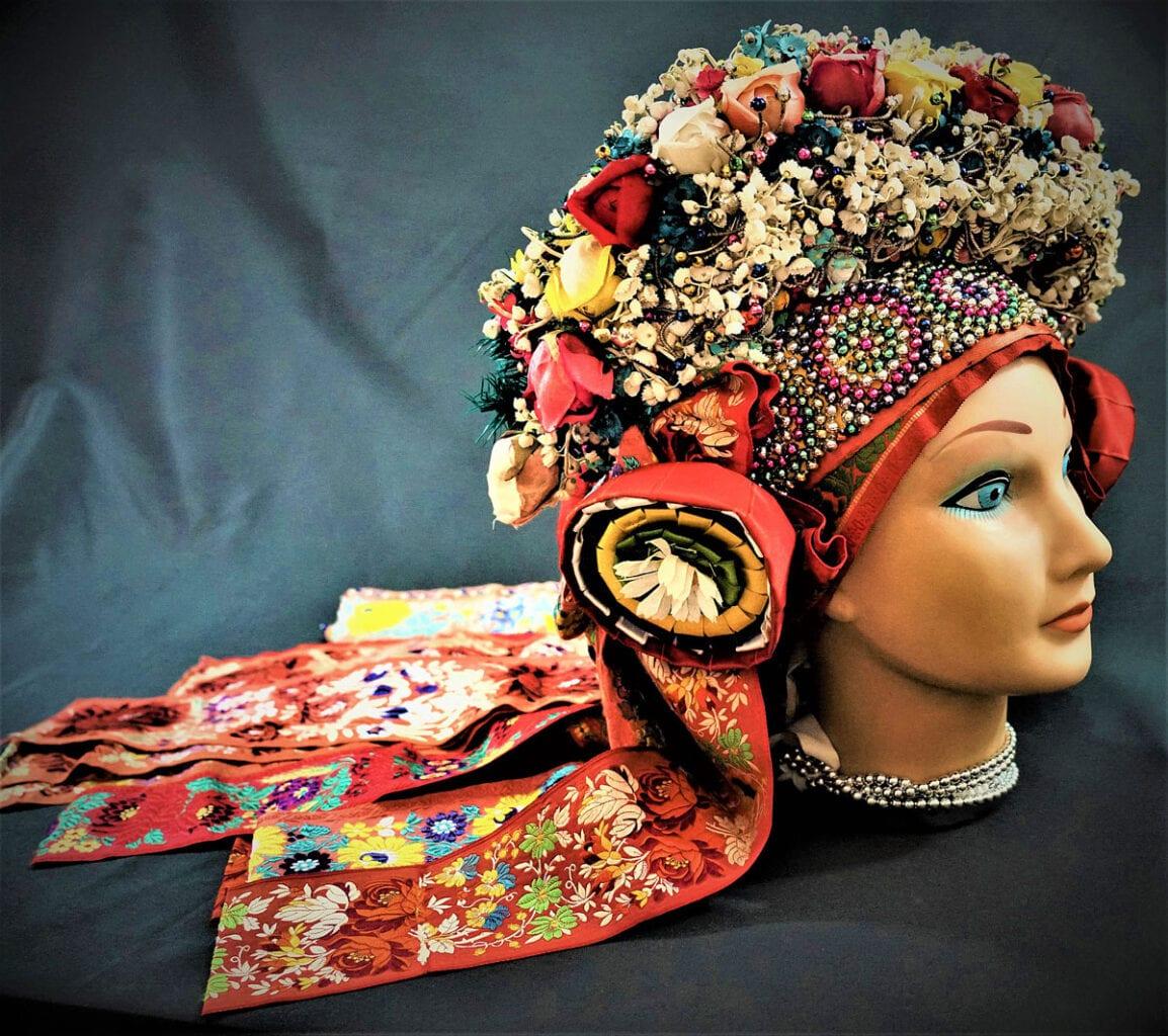 Moravian Headdress from Vlčnov, Slovakia. Photo by Jozef Kaufmann